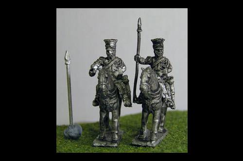 Imperial Guard Polish & Dutch Lancers At Rest lance upright  in covered Czapka x 8 figs