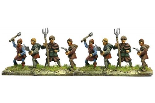 Peasants with assorted weapons