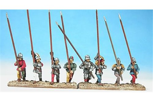 Swiss pikmen of second rank ( assorted, 6 different positions)