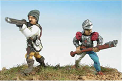 Swiss or Burgundian handgunners (4 different positions)