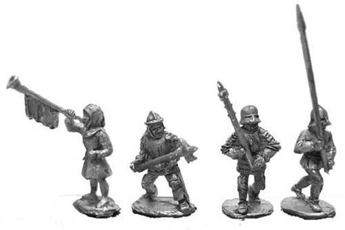 Burgundian infantry Command (4 variants)
