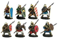 Muslim heavy infantry with lance and shield (4 variants)