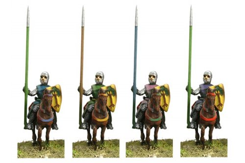 Knights of second tier, with non covered horses, walking