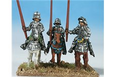 Knights with Italian stile armour and sallet (4 miniatures in three different kinds), walking