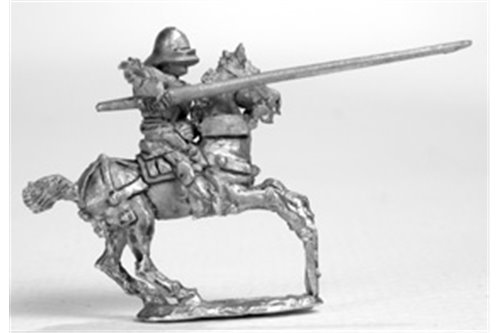 Knights with Italian stile armour and sallet, galloping (4 miniatures)