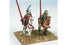 Light cavalrymen with lance (two different kinds)