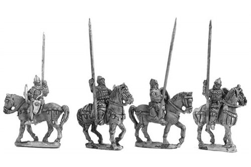 Turcopoles with walking horses (4 variants)
