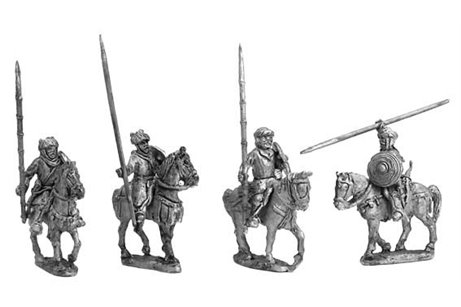 Bedouins mounted (4 complete miniatures in 4 variants)