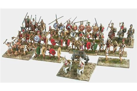 Early Etruscans, 650-600 BC (33 infantry, 6 cavalry & 1 light chariot)