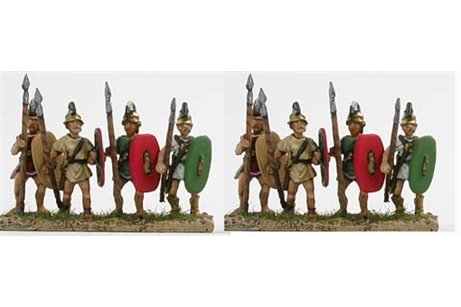 Etruscan infantry with Italian shield and lance (3 variants)
