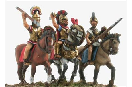 Cavalry command group (1 general and three different cavalrymen)