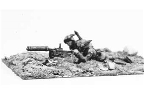 Alpini Machin-gunners with stationing and machine-gun  Fiat-Revelli mod. 1914