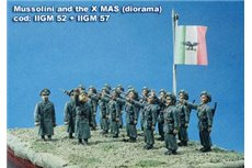 Parachutists R.E, R.S.I, X MAS, Republican National Guard, Black Brigades, saluting with dagger