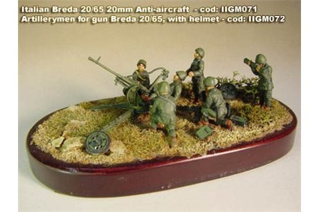 Artillerymen for gun Breda 20/65, with helmet, in various positions. (6 per pack)