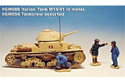 Italian medium tank Ansaldo-Fiat M 14/41 in Kit with colour picture.