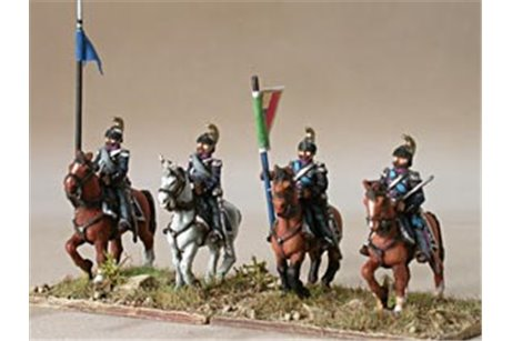 Command group of Dragoons in campaign dress, walking