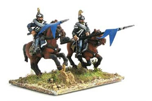 Dragoons in campaign dress, charging ( 2 positions)