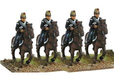 Chevauxlegers  in campaign dress, walking