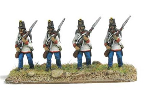 Austrian Fusiliers in attack march
