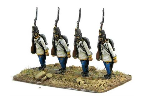 Hungarian Fusiliers, marching