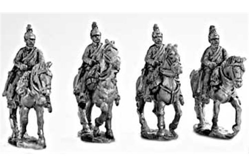 Dragoons walking, hands on bridles (4 miniatures, 1 variant)