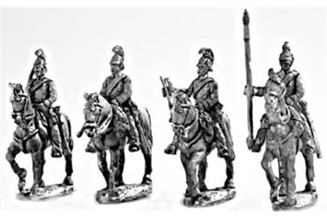 Dragoons walking command group, (4 miniatures, 4 variants)