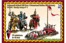 Italian Communal Army - 13th century. (48 cavalry, 28 infantry, 1 Carroccio.two flags.)