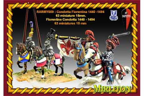 Florentine Condotta 1440 - 1490 (63 miniatures one bombard and 4 flags)