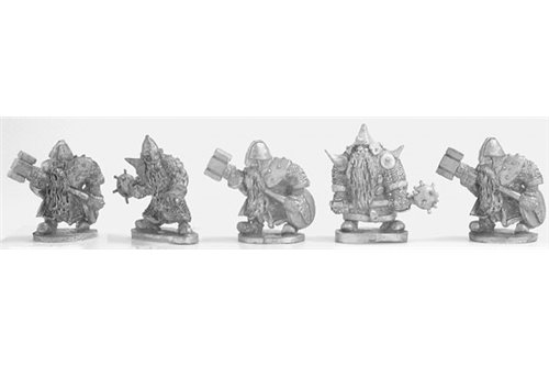 Dwarves with maces and war hammers