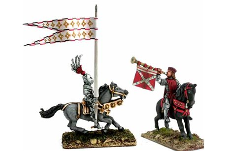 Mounted Trumpeter and Standard Bearer 1