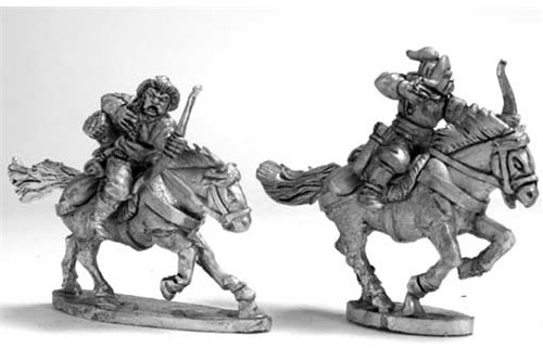 Steppe''s Horse Raiders with bow'