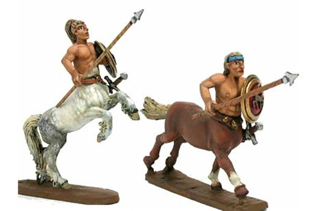 Centaurs with lance and shield