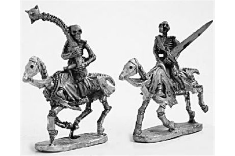 Skeleton Cavalry with two handed weapons 3