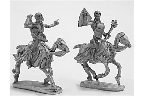 Skeleton Cavalry with weapons and shield 3