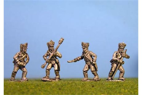 Foot Artillery Crew Firing x 8 figs (4 variants)