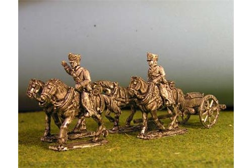 Foot Artillery Limber with 4 horses and 2 riders