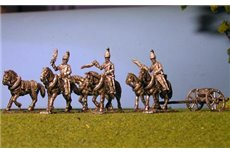 Horse Artillery Limber with 6 horses and 3 riders