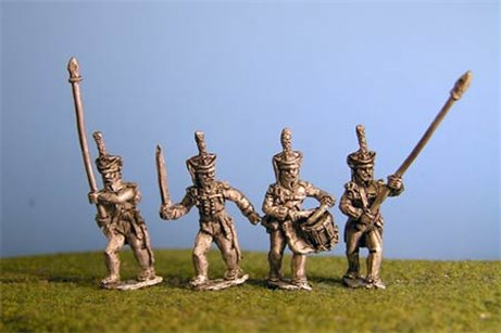 Grenadiers / Guard / Carabinier Command Marching / Advancing (4 variants)