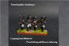 Fusiliers Advancing in Bicorne (1791-1808)  Full Dress