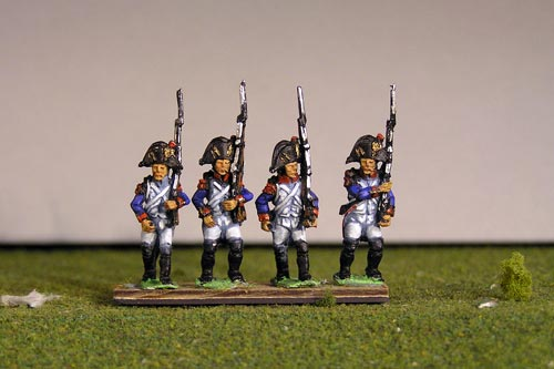Grenadiers March Attack in Bicorne (1791-1808) & Voltigeurs from 1804  Full Dress