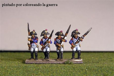 Grenadiers Advancing in Bicorne (1791-1808)  & Voltigeurs from 1804 Full Dress