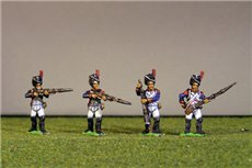 Grenadiers  / Consular Guard Firing Line/Skirmish in Bearskin with plate and chords full dress (1800-08/9). Most Grenadiers wore