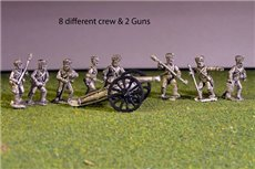 Russian Heavy Foot Artillery Battery with 2 x 12lb Cannons and 8 line crew