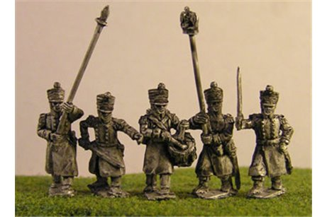 FW048 Line/Light Command in Greatcoat Marching (All Napoleonic periods) (5 variants)