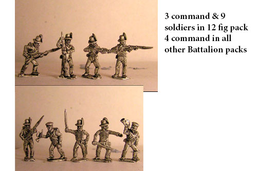 Avantguard Light Infantry in Hats Skirmishing/Firing Line x 12 figs with command