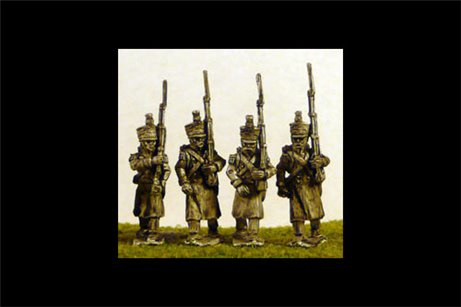 Line/Light Grenadiers/Voltiguers in Greatcoat Marching (All Napoleonic periods)
