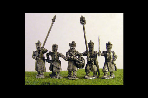 Line/Light Command in Greatcoat Marching (All Napoleonic periods) (5 variants)