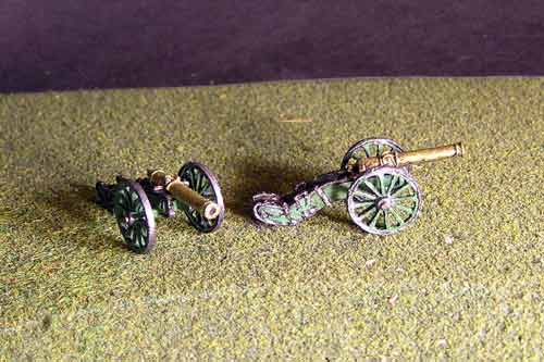 12lb French Gun x 2 models.