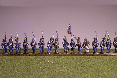 French Light March Attack/Marching 12 figs