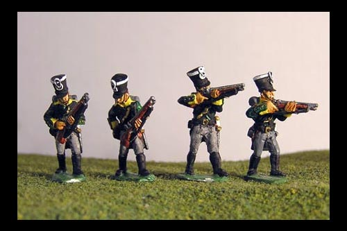 Prussian Jagers Skirmishing (4 variants)